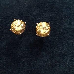 Yellow Diamonique earrings